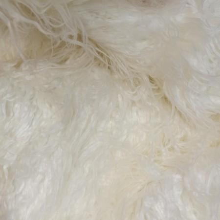 Лама белая - мех 90мм