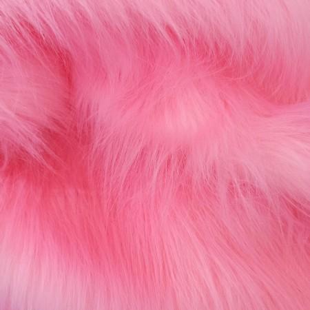 Мех розовый 90мм
