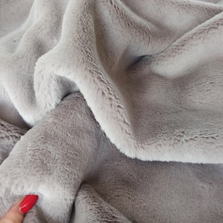 Мех Кролик Рекс 10мм Серый