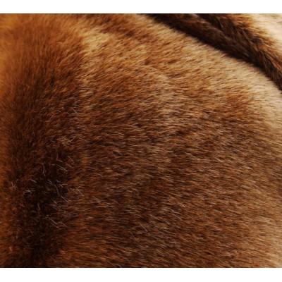 Реалистичный искусственный мех  Норка рыже-коричневая