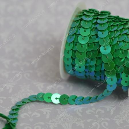 Пайетки на нити голография - Светло-зеленый
