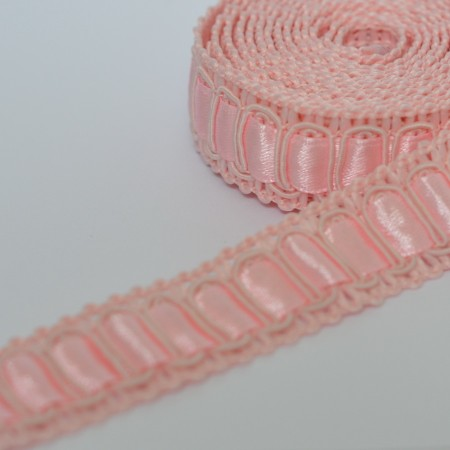 Декоративная тесьма 17мм - Розовая