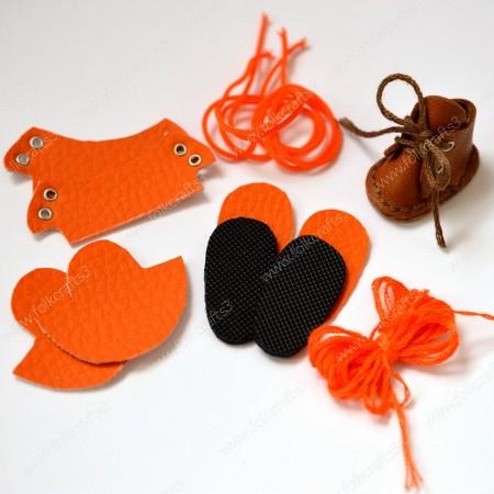 Набор для изготовления ботиночек для Блайз  Оранжевый