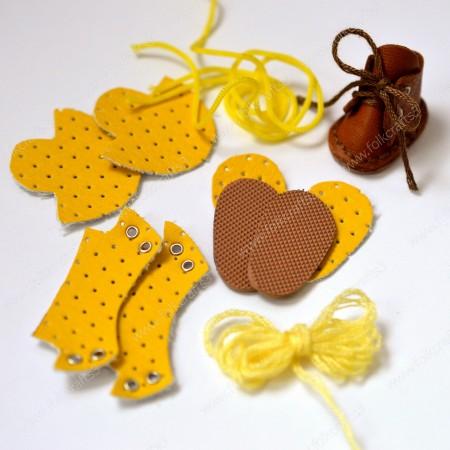 Набор для изготовления ботиночек для Блайз  Желтый