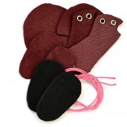 Набор для изготовления ботиночек для Блайз - Бордовый