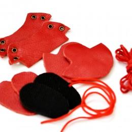 Набор для изготовления ботиночек для Блайз Красный