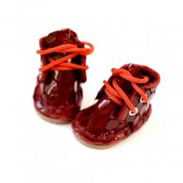 Ботинки для Блайз красный крокодил