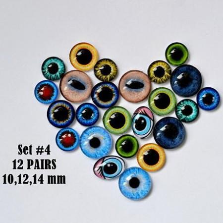 Набор глаз стеклянных для игрушек №4