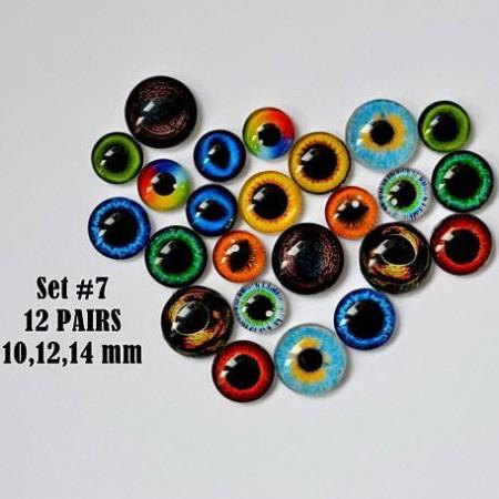Набор глаз стеклянных для игрушек №7