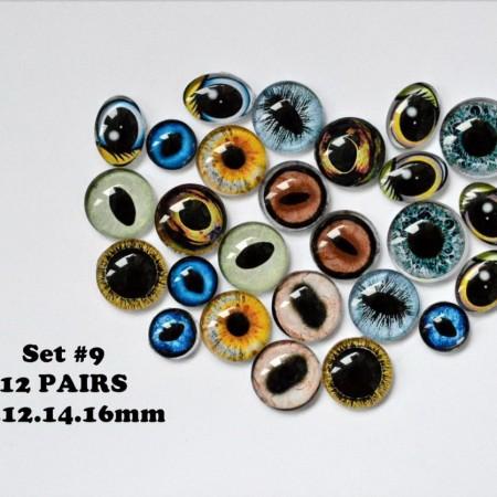 Набор глаз стеклянных для игрушек №9