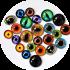Наборы стеклянных глаз для игрушек разных размеров в ассортименте