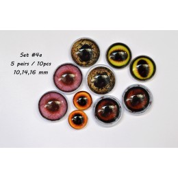 Набор глаз стеклянных для игрушек - А*4