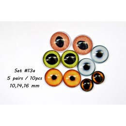 Набор глаз стеклянных для игрушек - А*13
