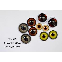Набор глаз стеклянных для игрушек - А*2