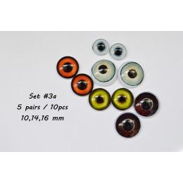 Набор глаз стеклянных для игрушек - А*3