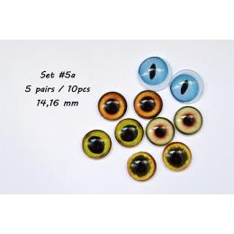 Набор глаз стеклянных для игрушек - А*5