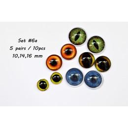 Набор глаз стеклянных для игрушек - А*6