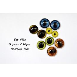 Набор глаз стеклянных для игрушек - А*11