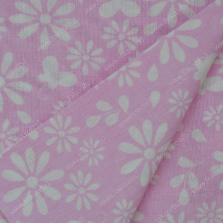Польский хлопок - бабочки на розовом