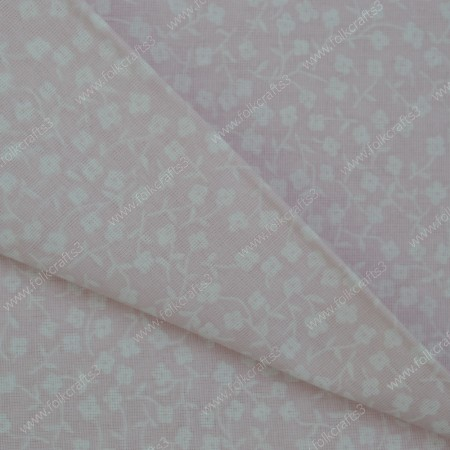 Польский хлопок - цветочки  на розовом
