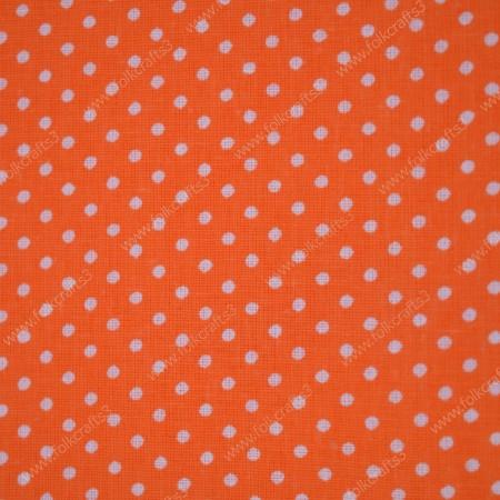 Польский хлопок в Оранжевый горошек