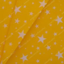 Польский хлопок - звезды на желтом