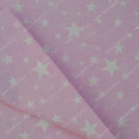 Польский хлопок - Розовые звезды