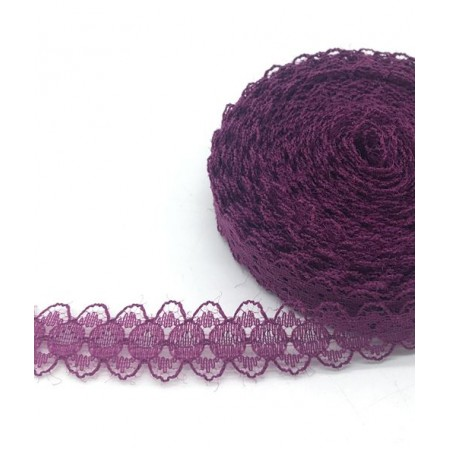 Кружево нежное тонкое 15мм - Фиолетовое