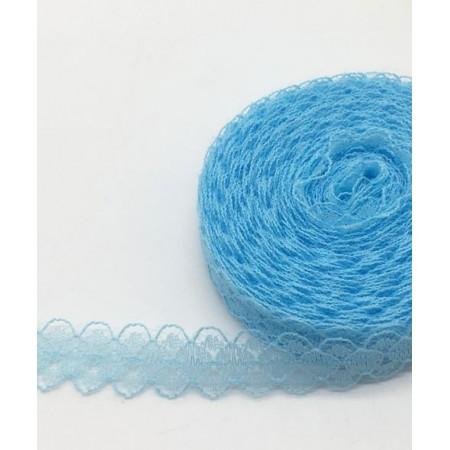 Кружево нежное тонкое 15мм - Голубое