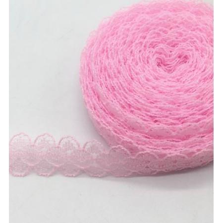 Кружево нежное тонкое 15мм - Розовое