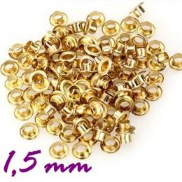 Люверсы - 1,5мм золото