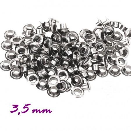 Люверсы - 3,5мм серебро