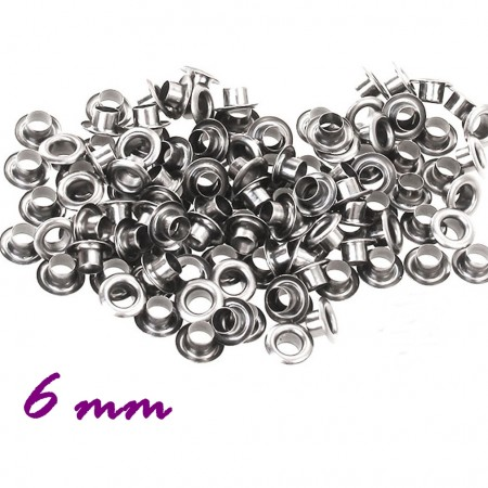 Люверсы - 6мм серебро