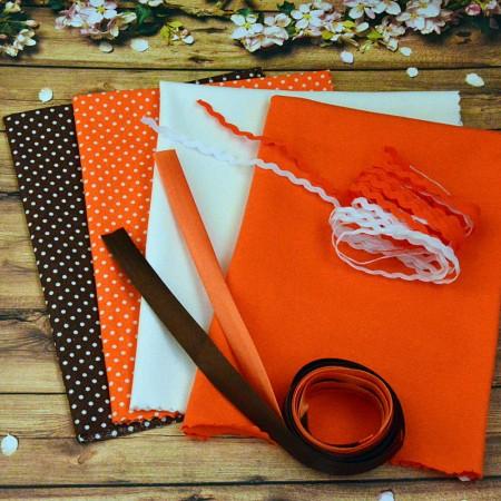 """Набор тканей и фурнитуры для шитья - """"Апельсинка"""""""