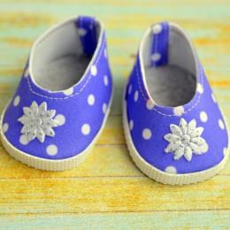 Туфли для куклы 7см - Фиолетовые