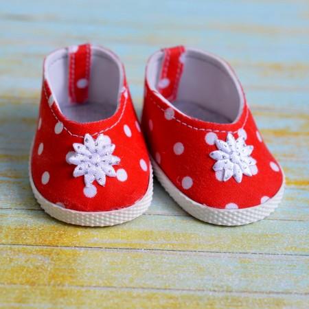 Туфли для куклы 7см - Красные