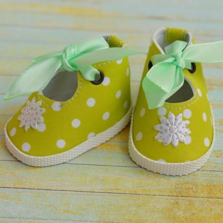Туфли для куклы 7см - Салатовые