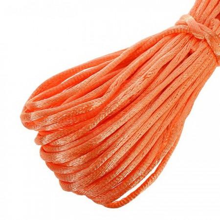 Атласный шнур 3мм - Оранжевый