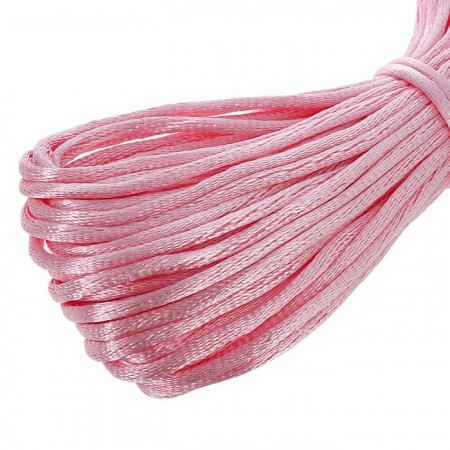 Атласный шнур 3мм - Розовый