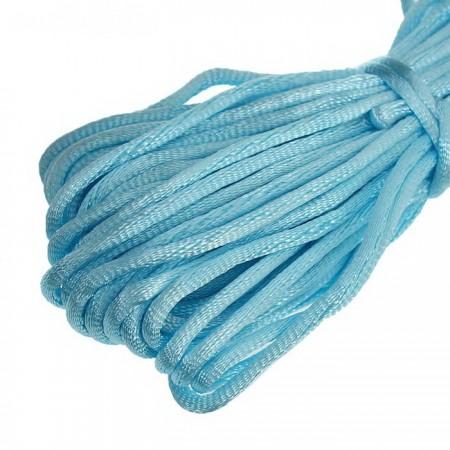 Атласный шнур 3мм - Голубой
