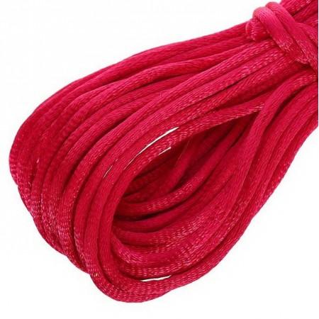 Атласный шнур 3мм - Красный
