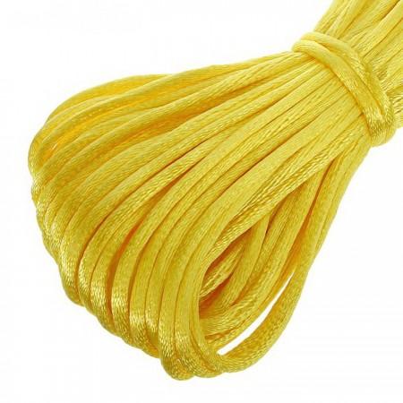Атласный шнур 3мм - Желтый