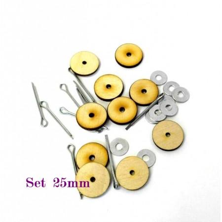 Набор креплений для игрушки тедди 25 мм (качающийся)