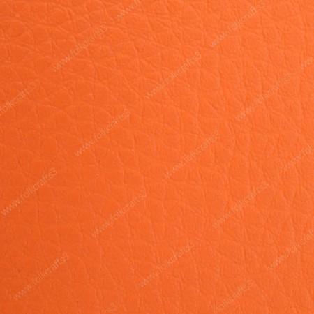 Искусственная текстурная кожа ярко-оранжевая