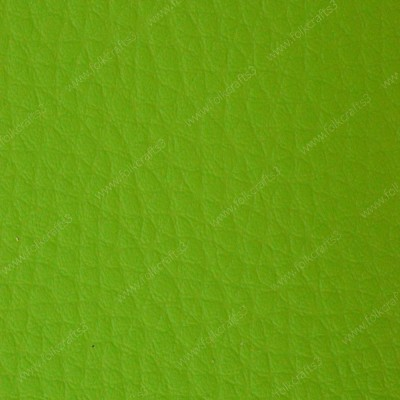 Салатовая  искусственная текстурная кожа