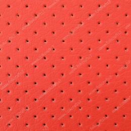 Перфорированная кожа Красная