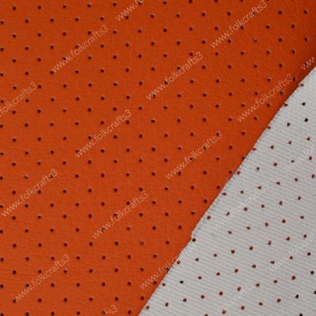 Перфорированная кожа Оранжевая