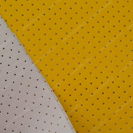 Перфорированная кожа Желтая