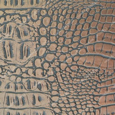 Текстурная эко-кожа Золотой Кайман