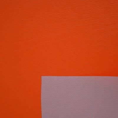 Оранжевая  виниловая  кожа
